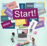 Commencez à commencer le concept de démarrage de motivation de lancement en avant images libres de droits