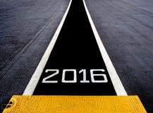 Commencez à la nouvelle année deux mille seize (2016) Photo stock