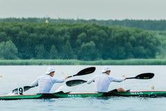 Commencez au kayak Photos stock