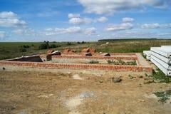 Commencez la construction du nouveau bâtiment Images libres de droits