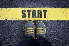 Commencez la ligne photo libre de droits