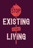 Commencez la vie Images libres de droits