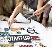 Commencez le concept créatif d'occasion de lancement de stratégie images stock