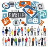 Commencez le concept d'affaires d'idée de succès de croissance de lancement Photographie stock libre de droits
