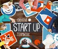Commencez le concept d'affaires d'idée de succès de croissance de lancement Photo libre de droits