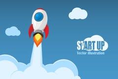 Commencez le concept d'affaires Illustration de vecteur illustration stock