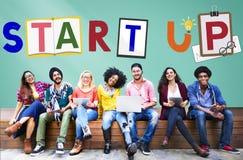 Commencez le concept d'aspiration de lancement de croissance d'affaires images stock
