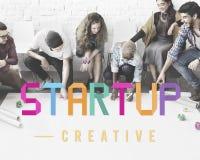 Commencez le concept de croissance de lancement d'entreprise de développement image stock