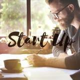 Commencez le concept de mission de lancement d'idées d'entreprise Image stock
