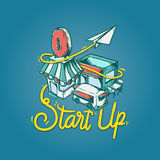 Commencez le concept de vision de développement de petite entreprise illustration de vecteur