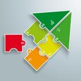 Commencez le puzzle Infographic de flèche coloré par succès illustration stock