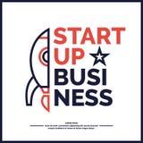 Commencez  Revenu et succès Affaires Infographics Image libre de droits
