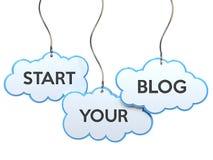 Commencez votre blog sur la bannière de nuage illustration libre de droits