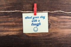 Commencez votre jour avec un rire Photos stock