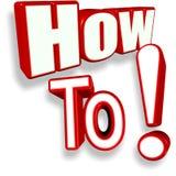 Comment à ! ! ! Image libre de droits