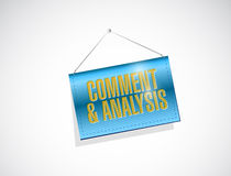Comment and analysis hanging banner Stock Image
