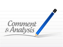comment and analysis message sign Royalty Free Stock Image