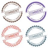 Comment badge isolated on white background. Royalty Free Stock Photo