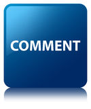 Comment blue square button Royalty Free Stock Photo