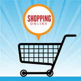 Comment Bubble with Cart Vector Stock Image