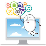 Comment Bubble with Mouse Stock Photography