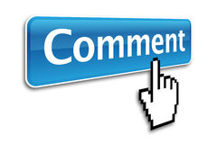 Comment button Stock Photos