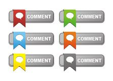 Comment buttons with ribbon Royalty Free Stock Photography