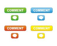Comment buttons Royalty Free Stock Images