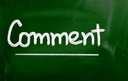 Comment Concept Royalty Free Stock Photos
