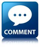 Comment (conversation icon) blue square button Stock Photography