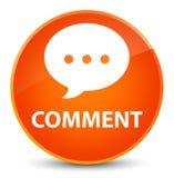 Comment (conversation icon) elegant orange round button Stock Images