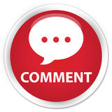 Comment (conversation icon) premium red round button Stock Image