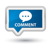 Comment (conversation icon) prime blue banner button Royalty Free Stock Photos