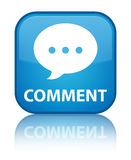 Comment (conversation icon) special cyan blue square button Royalty Free Stock Images