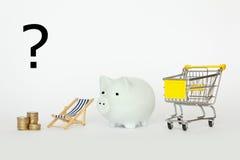 Comment dépenser le revenu ? Image libre de droits