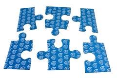 Comment effectuer un puzzle Photographie stock libre de droits