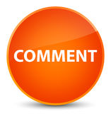 Comment elegant orange round button Royalty Free Stock Photography