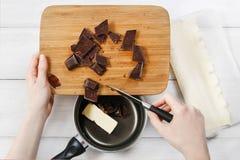 Comment faire les biscuits plus palmier - biscuits français Photographie stock libre de droits