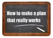 Comment faire un plan qui fonctionne vraiment Images stock