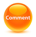 Comment glassy orange round button Stock Images