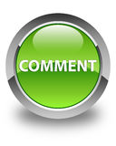 Comment glossy green round button Royalty Free Stock Photos