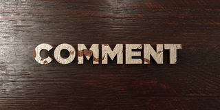 Comment - grungy wooden headline on Maple  - 3D rendered royalty free stock image Royalty Free Stock Photo