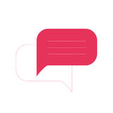 Comment icon. Vector callout icon for web interface Royalty Free Stock Photos