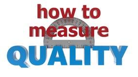 Comment mesurer le concept de qualité Photo stock