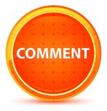 Comment Natural Orange Round Button royalty free illustration