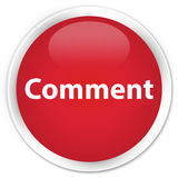 Comment premium red round button Stock Photography