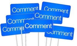 Comment signs for social media Stock Images