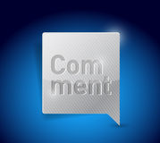 Comment social media button pointer illustration Stock Images