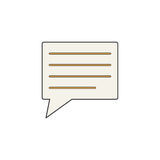 Comment solid icon, Speech bubbles, vector Stock Photos
