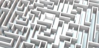 Comment trouver la bonne voie par un labyrinthe photographie stock libre de droits